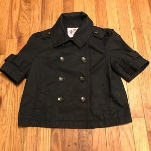 Juicy Couture Jacket Short Sleeve Button Up Size S